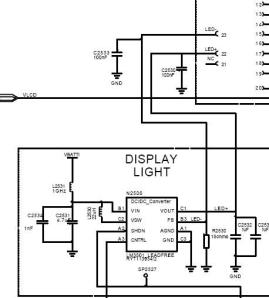 k500 LCD led